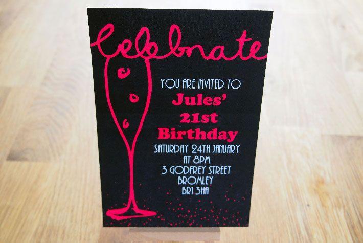 Champagne Invitation - Birthday/Anniversary
