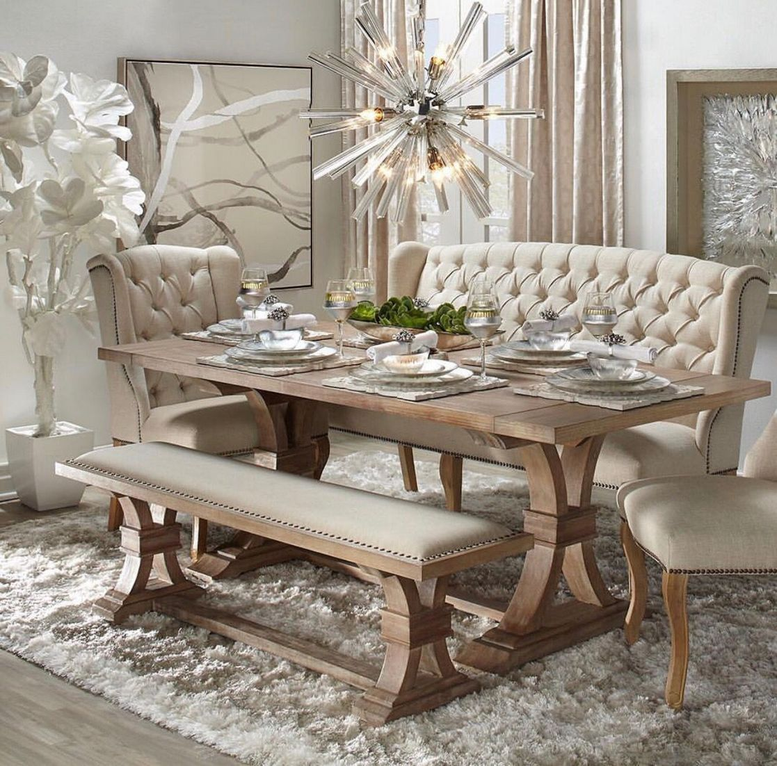 Fabulous Modern Cozy Dining Room 13 Firstmine Shabby Chic Dining Room Dining Room Table Decor Chic Dining Room