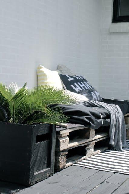 Palettes : idées déco pour un canapé outdoor | Palette ...