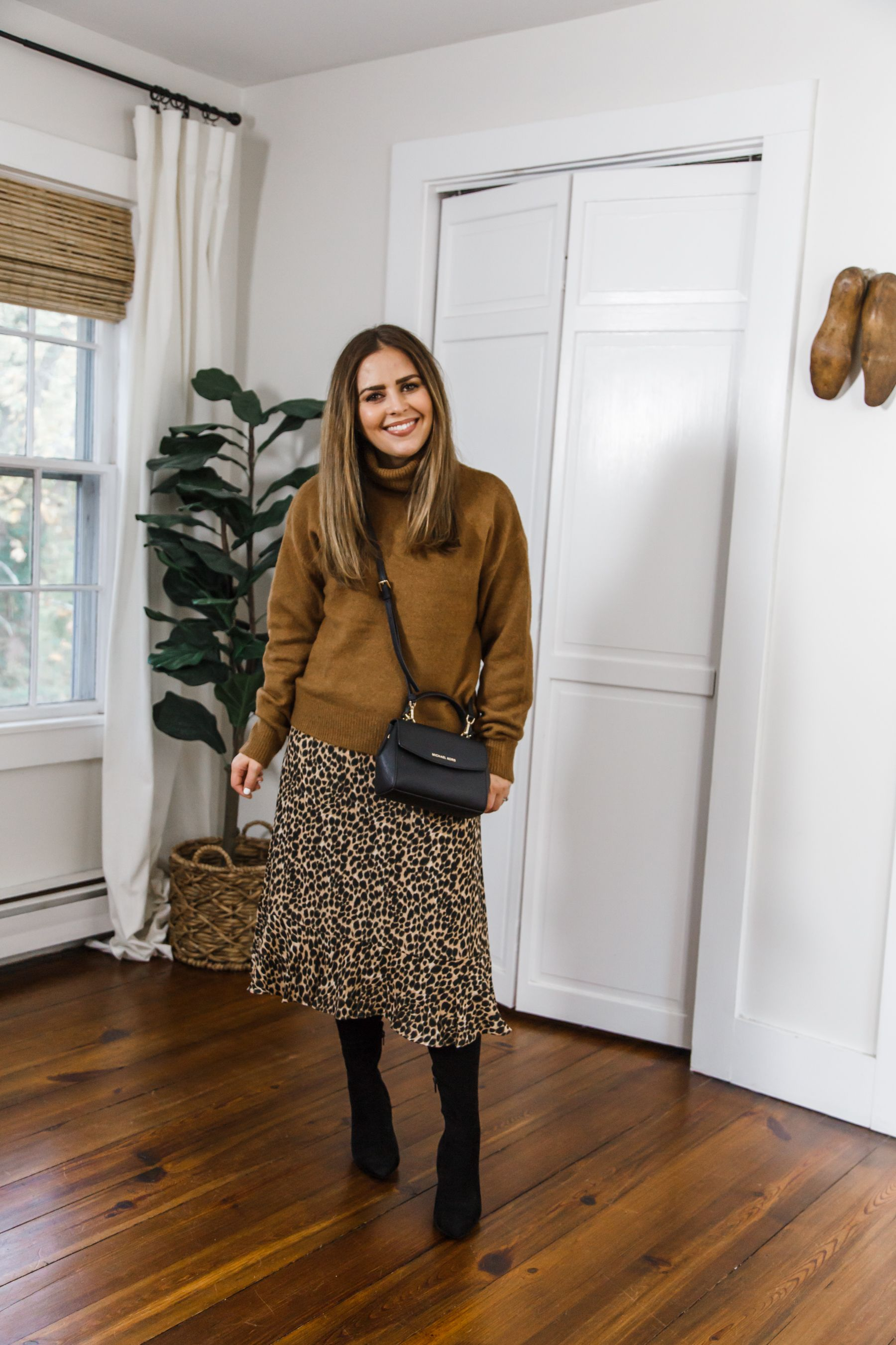 10 Ways To Style The J Crew Factory Leopard Print Dress Dress Cori Lynn Print Dress Leopard Print Dress Winter Dress Outfits [ 2700 x 1800 Pixel ]