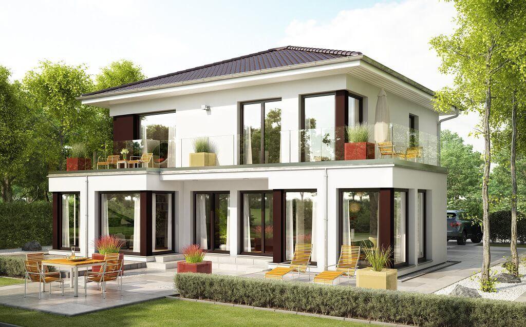 evolution 154 v10 bien zenker fertighaus mit walmdach bilder grundrisse preise jetzt. Black Bedroom Furniture Sets. Home Design Ideas