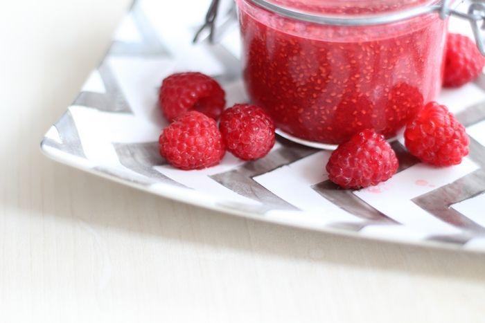 chia himbeer marmelade ohne zucker rezepte gesundes essen pinterest marmelade ohne zucker. Black Bedroom Furniture Sets. Home Design Ideas