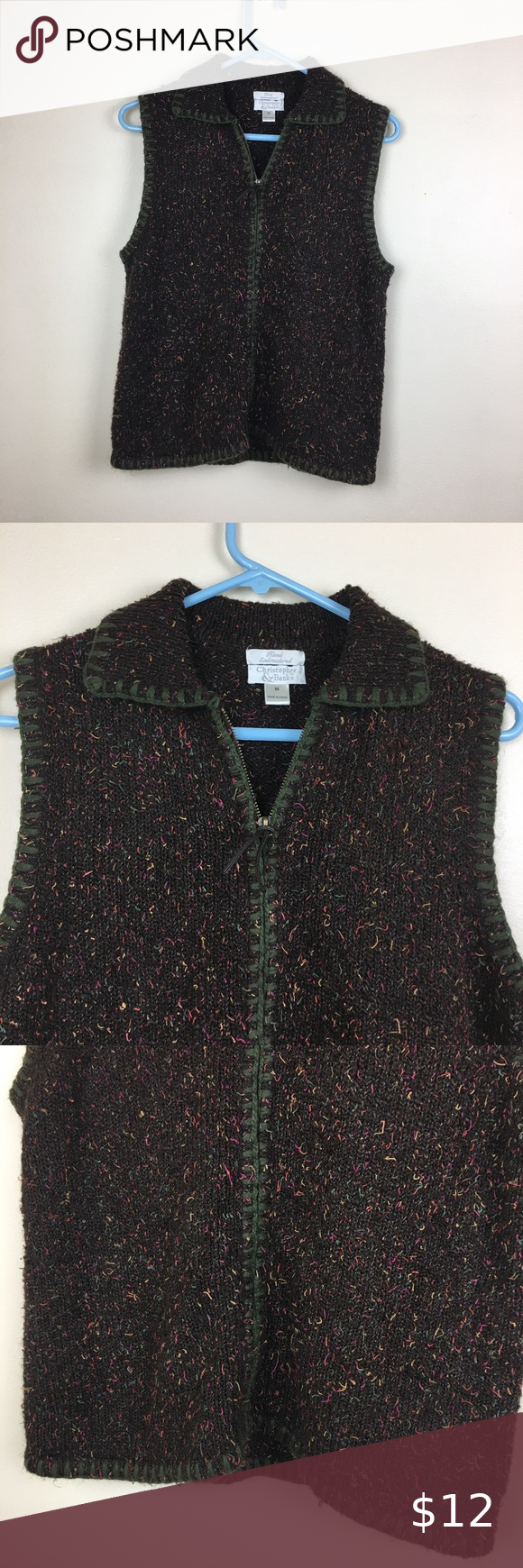 Christopher & Banks Hand Embroidered Sweater Vest This super soft and cozy sweater vest is in like new condition. It is from Christopher & Banks. Christopher & Banks Size Medium Christopher & Banks Sweaters