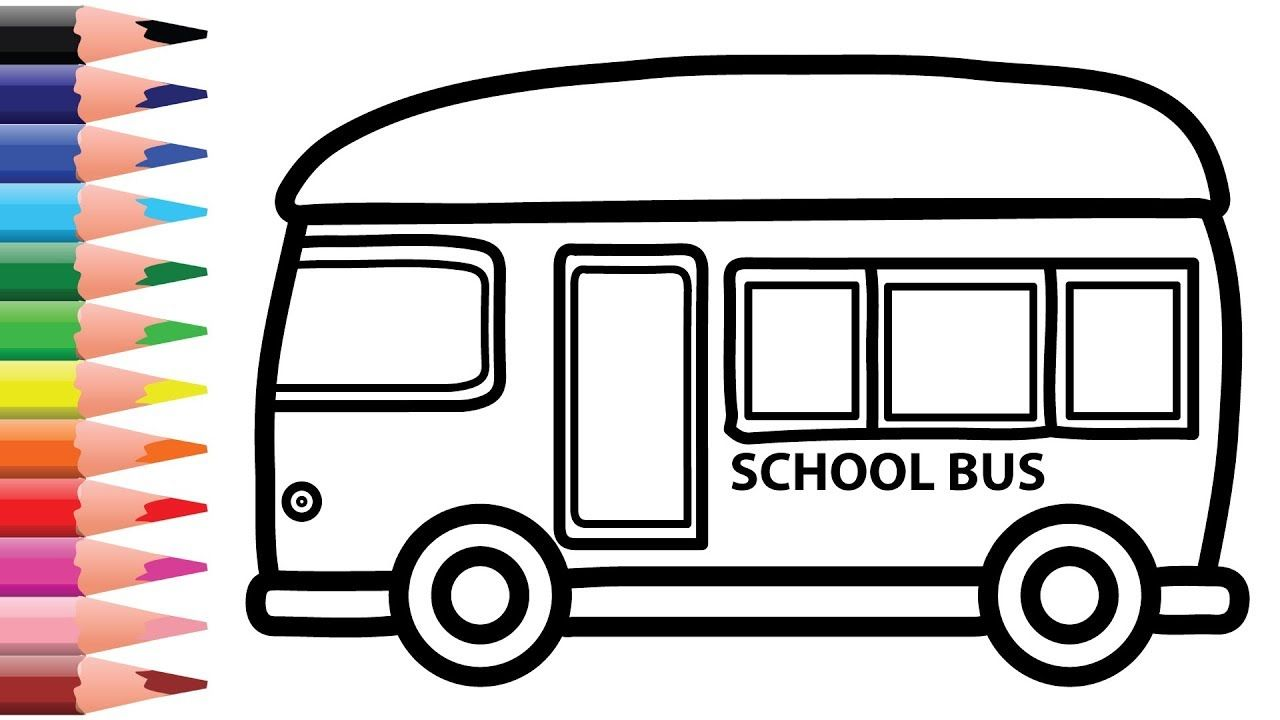 School Bus Drawing And Coloring For Kids Chuchu Colors Tv With