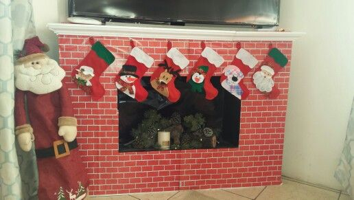 Chimenea Navidad navidad Pinterest