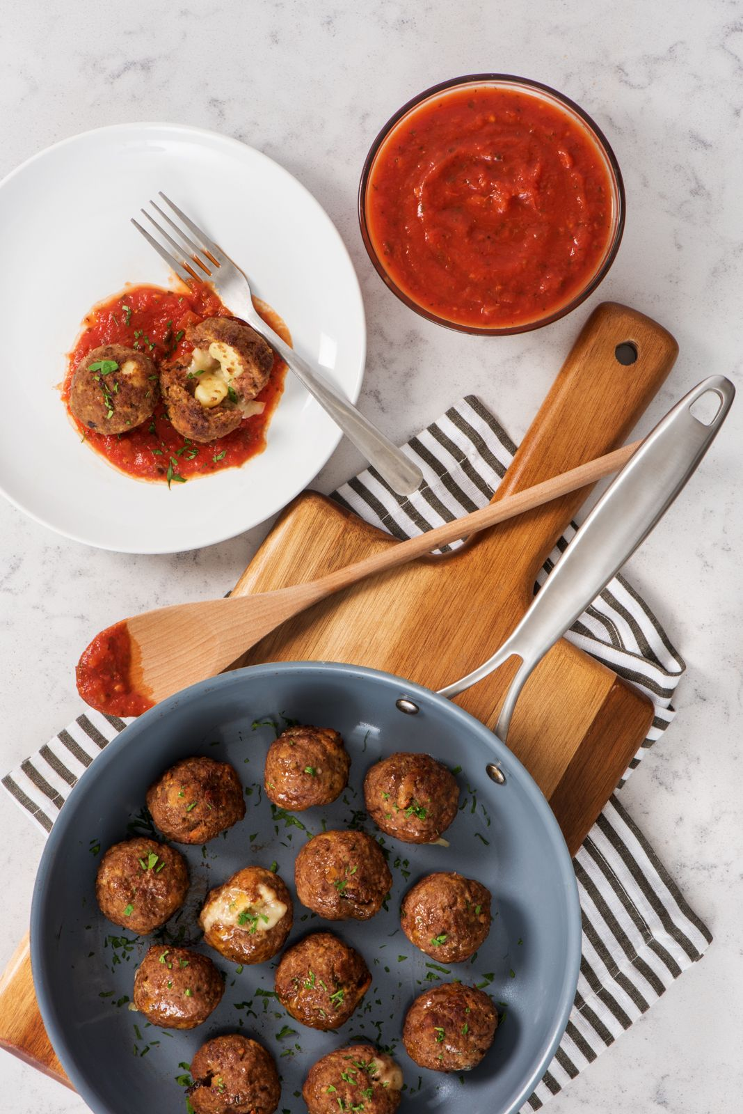 What's better than meatballs? Meatballs stuffed with gnocchi and cheese! Get this family-friendly appetizer recipe.