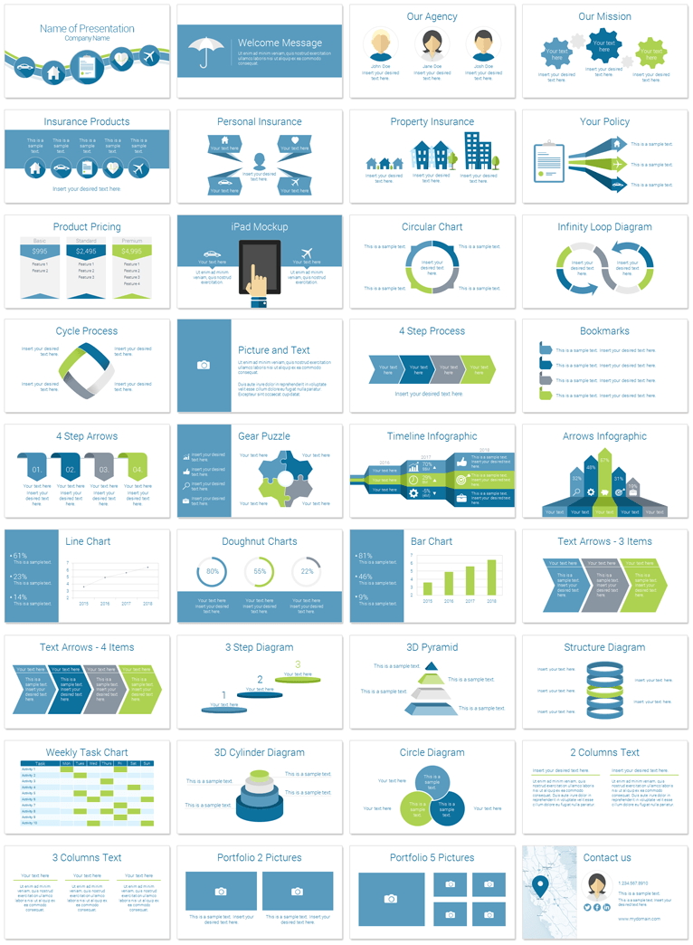 insurance template ppt  Insurance PowerPoint Template | theme | Pinterest | Template, Ppt ...