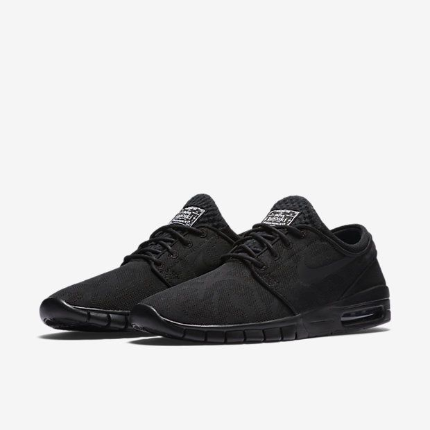 Nike SB Stefan Janoski Max PRM Rip Reveal Skate Shoes Mens 10.5 Black  807497 004