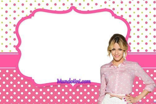 Imagen de Violetta 3 para stickers invitación de cumpleaños tarjeta de regalo