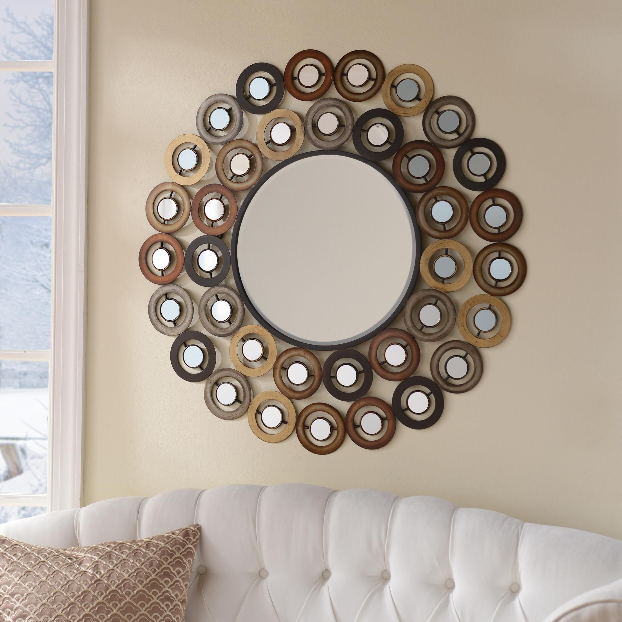 metallic dots mirror | decorative mirrors, wall decor and living rooms