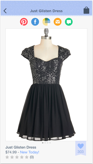 """Modcloth - """"new today"""" highlight"""