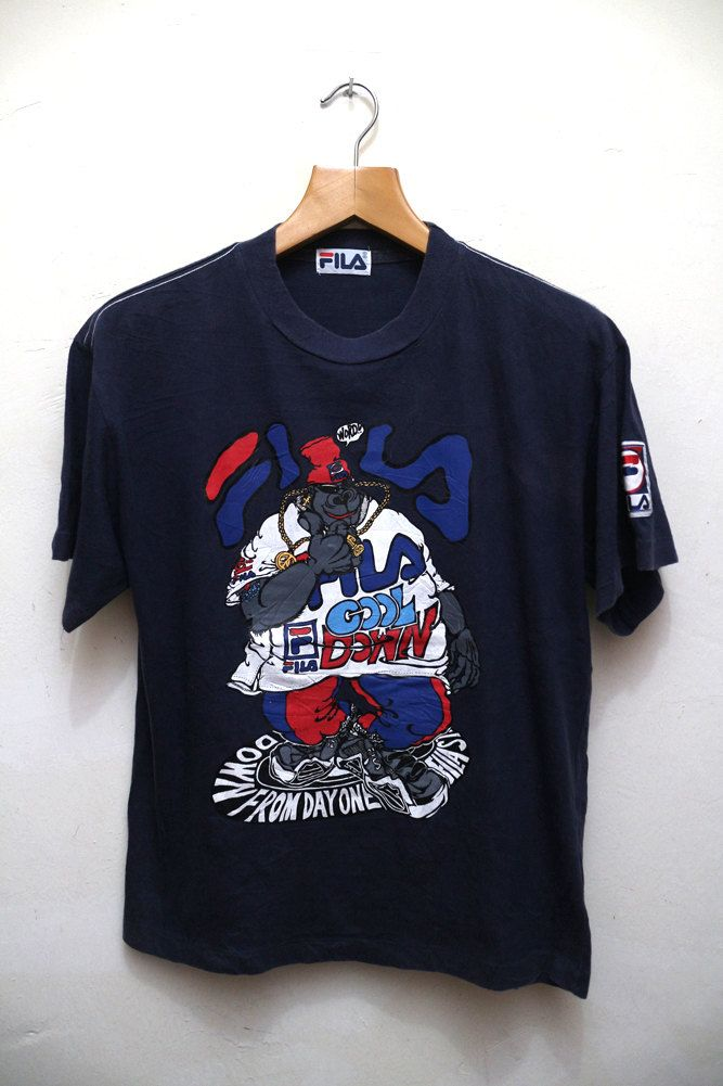 Vintage FILA Cool Down From Day One Cartoon Character Tee T Shirt by…