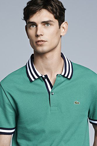 40c4812da7c3f #ALLDESIGNERSTAPLES Pinterest - @houstonsoho | @lacoste Pique Stripped  Collar #POLOS #GREEN