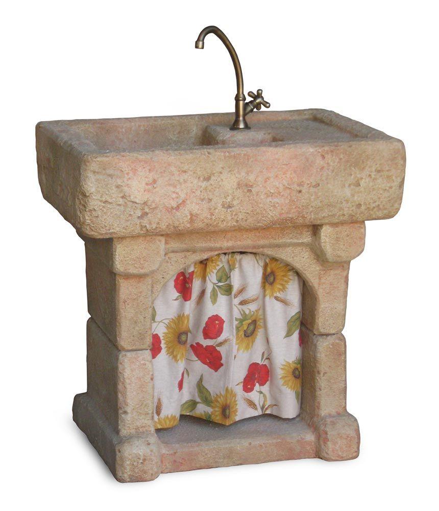 Lavello da giardino in pietra ricostruita alleggerita