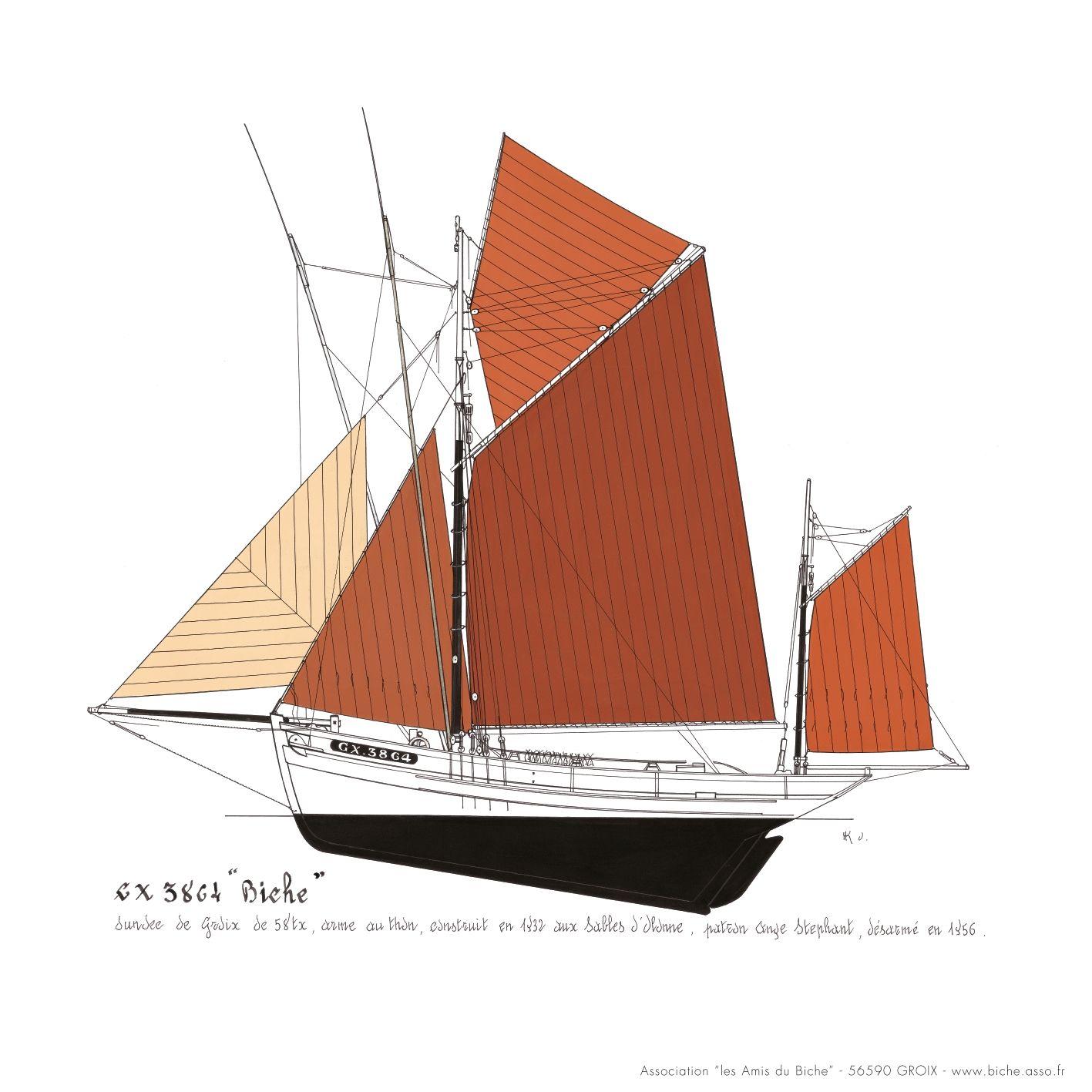 """Thonier (dundée) de Groix - Le """"Mimosa"""" - 1/50 (kit Soclaine) 17a878528c4b84b4b2ccadc931a88d86"""