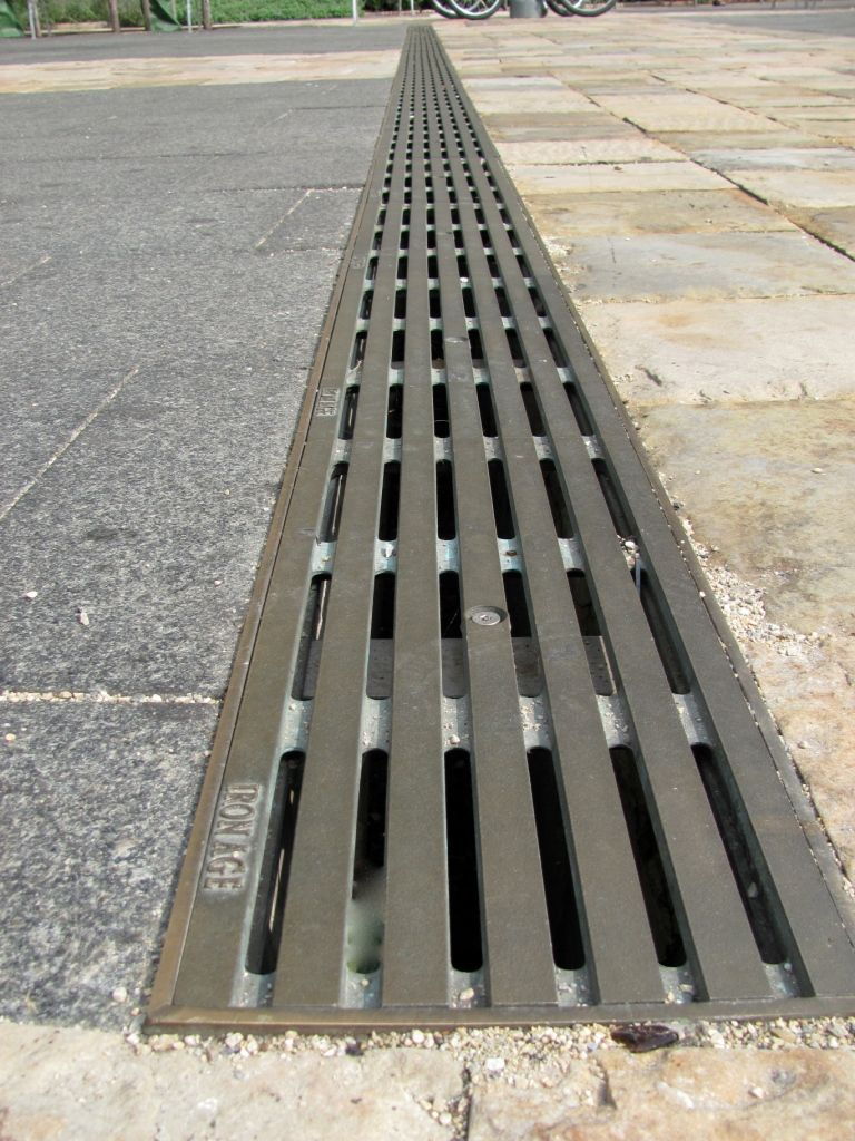 Decorative Metal Grates Title Wave Field 2 Urban Accessories Trench Grate Landscape