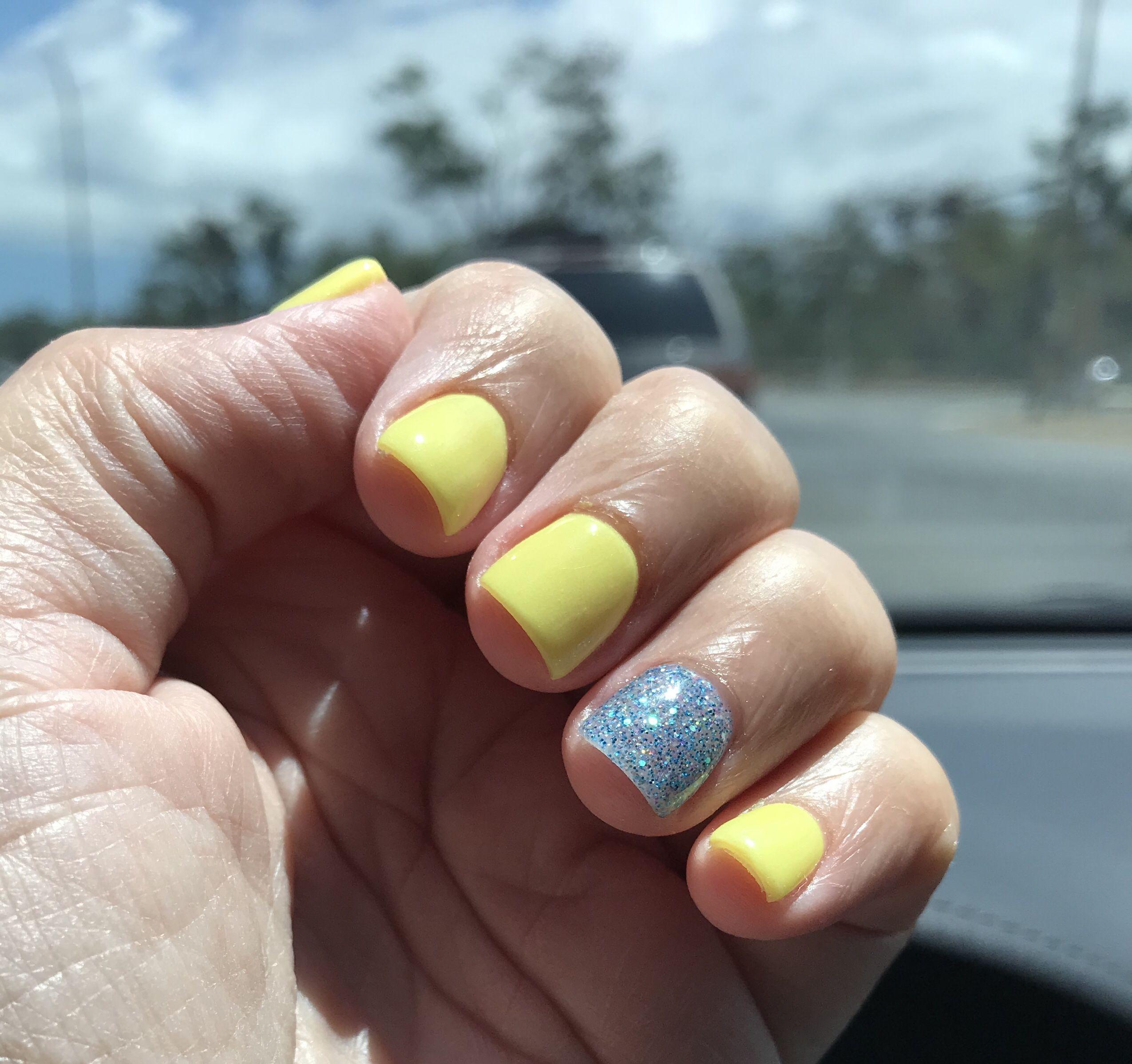 dippingpowder yellownails