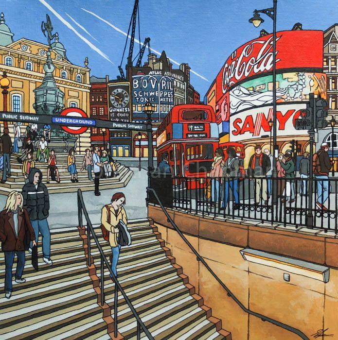 Original Illustration: Going Underground at Piccadilly Circus