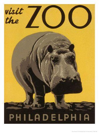 Visit the Philadelphia Zoo Premium Poster
