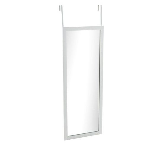 Miroirs miroir porte atmosphera blanc but 14 99 x for Miroir 30x120