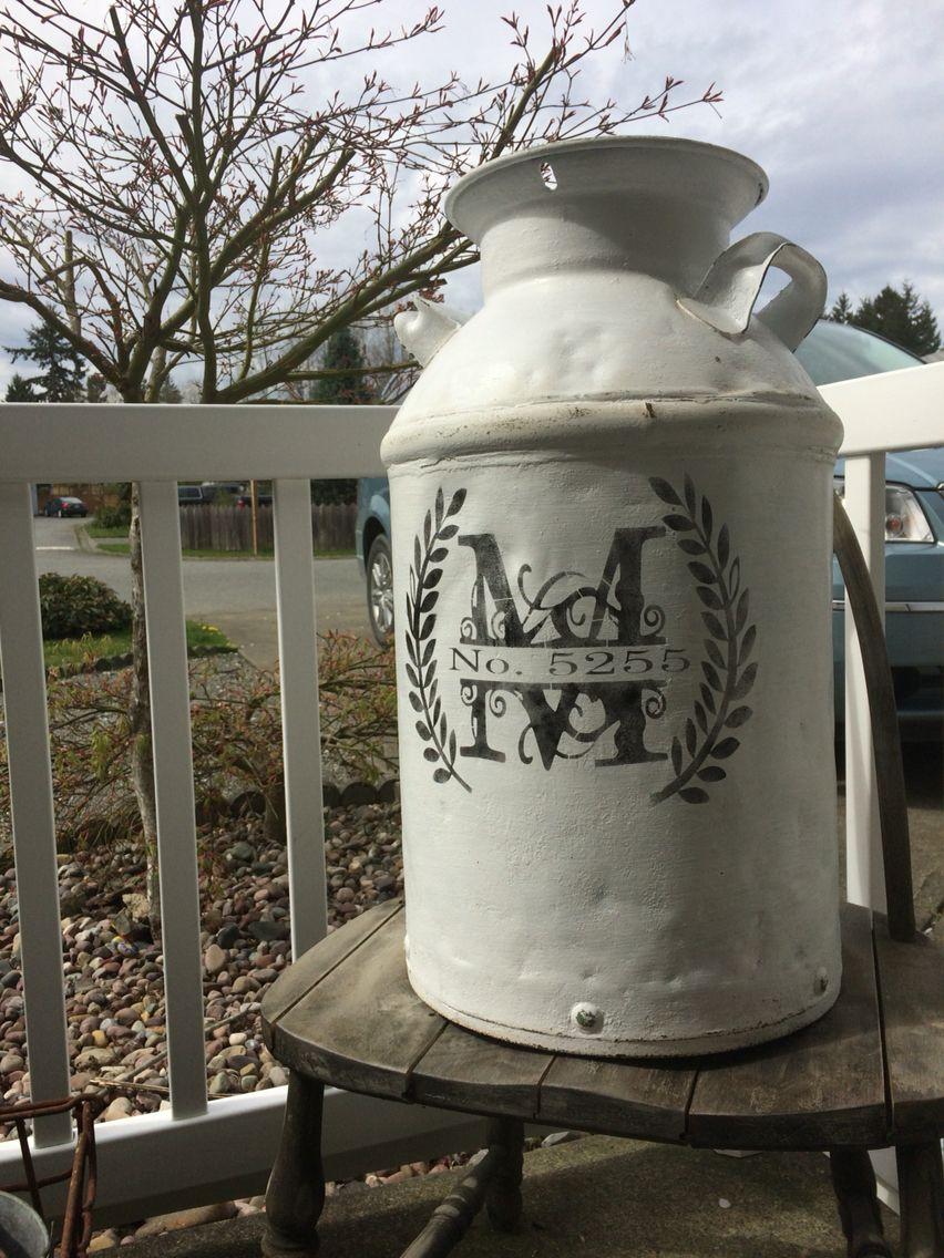 Vintage Milk Can Idea Address Monogram Old Milk Cans Vintage Milk Can Milk Cans