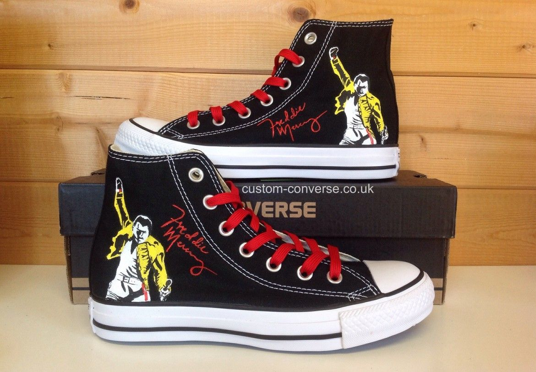 premium selection 2abe8 0fd8f Freddie Mercury   Custom shoes in 2019   Freddie mercury, Mercury ...