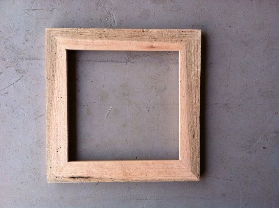 8x8 rustic oak frame by jonesframing on etsy