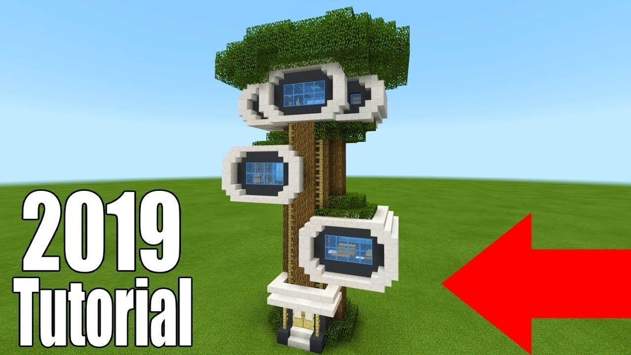 Minecraft Tutorial How To Make A Modern Survival Tree House 2019