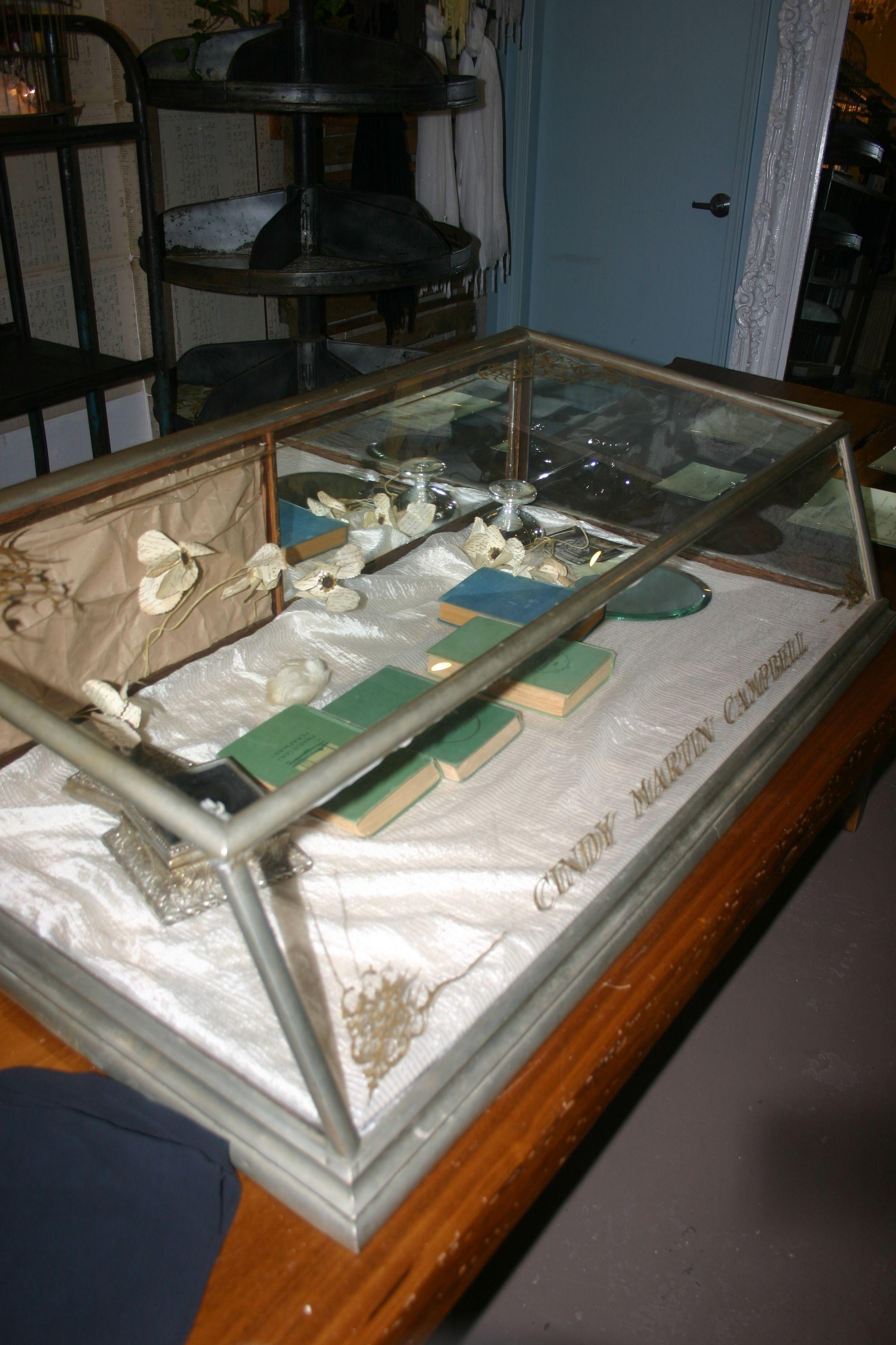 vintage nickel jewelry case