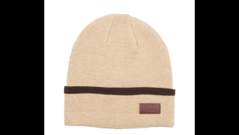 173f8c0ed232b Levis Beanie Leather Patch Knit Max Warmth Khaki One Size NEW https   www