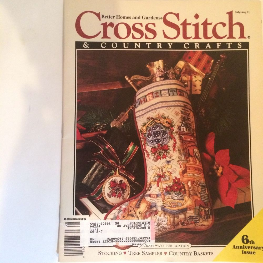 Cross stitch country crafts magazine back issues - Cross Stitch Country Crafts Magazine Christmas July August 1991 080807