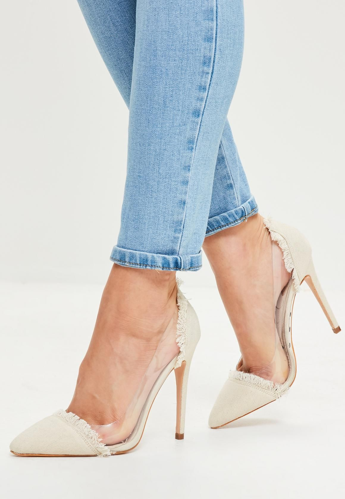 Missguided Pointed Court Shoe - Beige 4gSsD7y