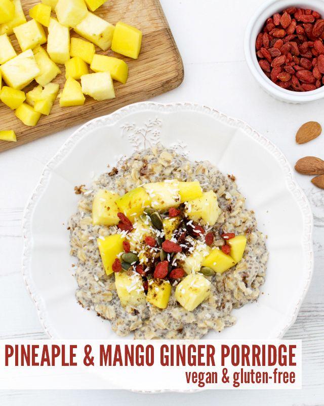 Pineapple Mango Ginger Porridge Vegan Gluten Free
