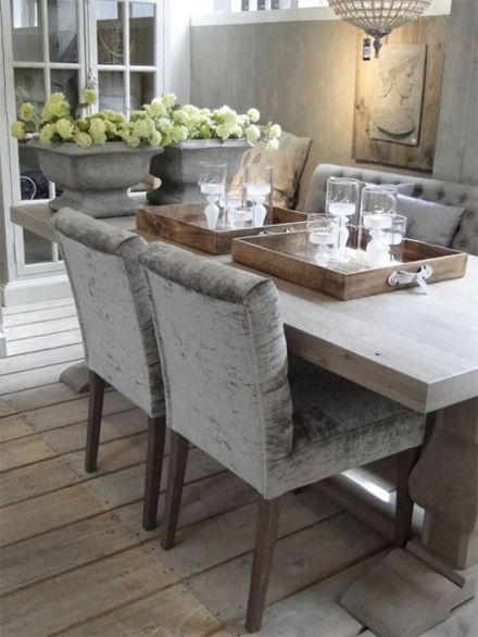 Klassiek En Landelijk Interieur  Tables  Pinterest  Mansion Fair Grey Dining Room Sets Inspiration Design
