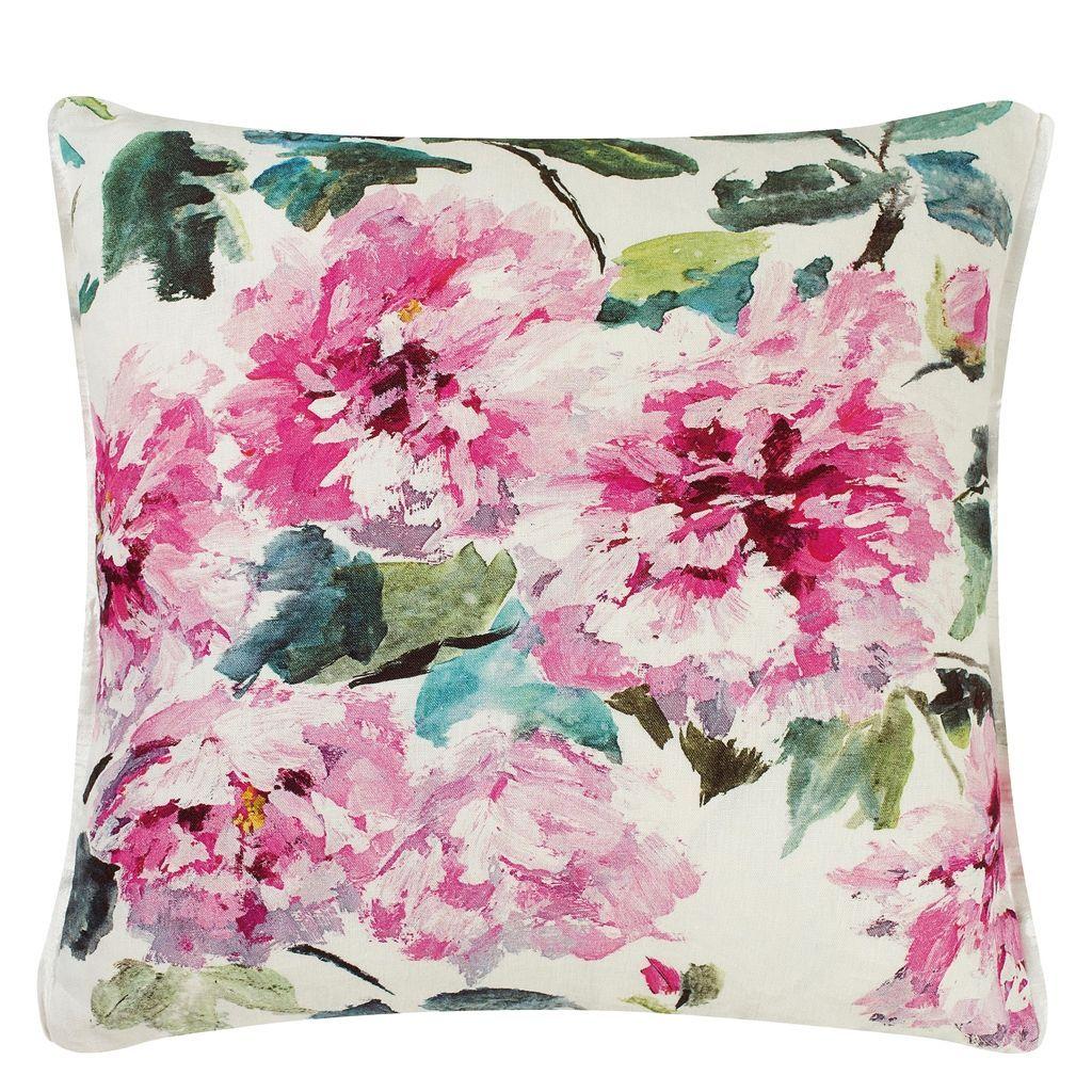Shanghai Garden Peony Throw Pillow | Designers Guild | Master ...