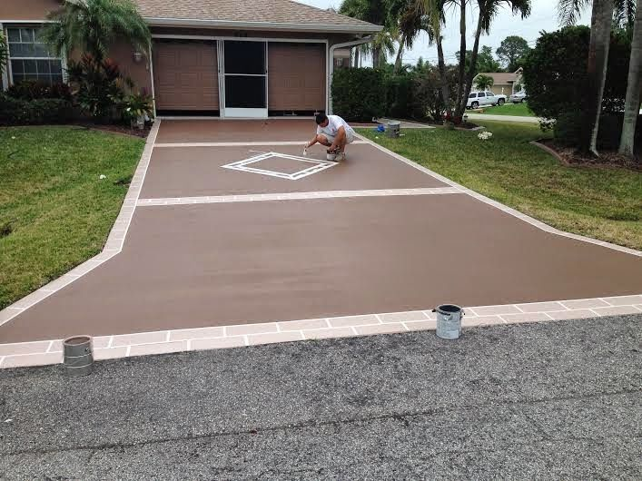 Vero Beach Painting Faux Finishes 772 626 7159 Driveway Designs Coating And Staining C