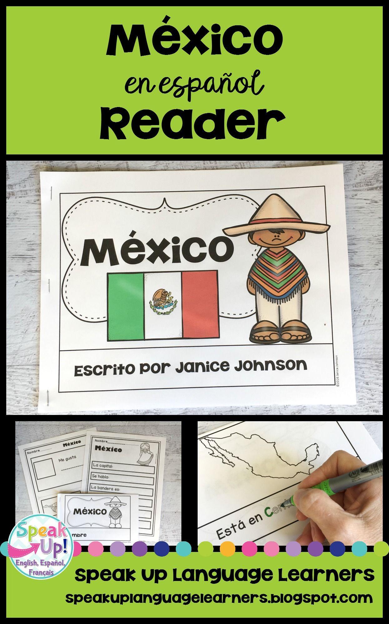 Mexico Reader Mexico En Espanol Vocab Pages Simplified For