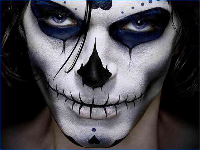 Mens Halloween Face Painting Designs in 2019 | Skull face ...