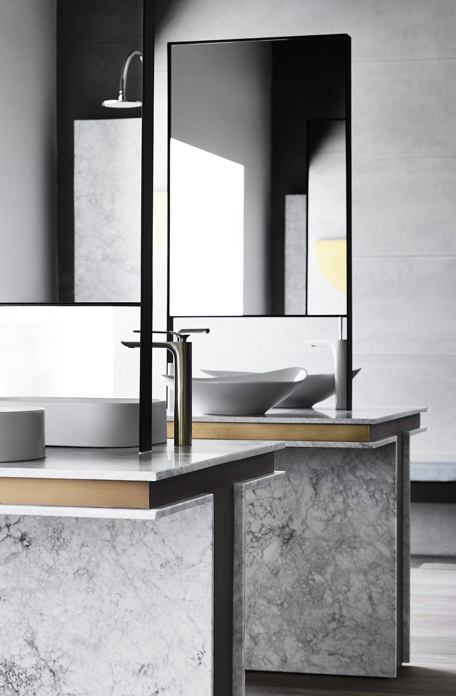 Beautiful Freestanding Sinks And Mirrors Bathroom Interior