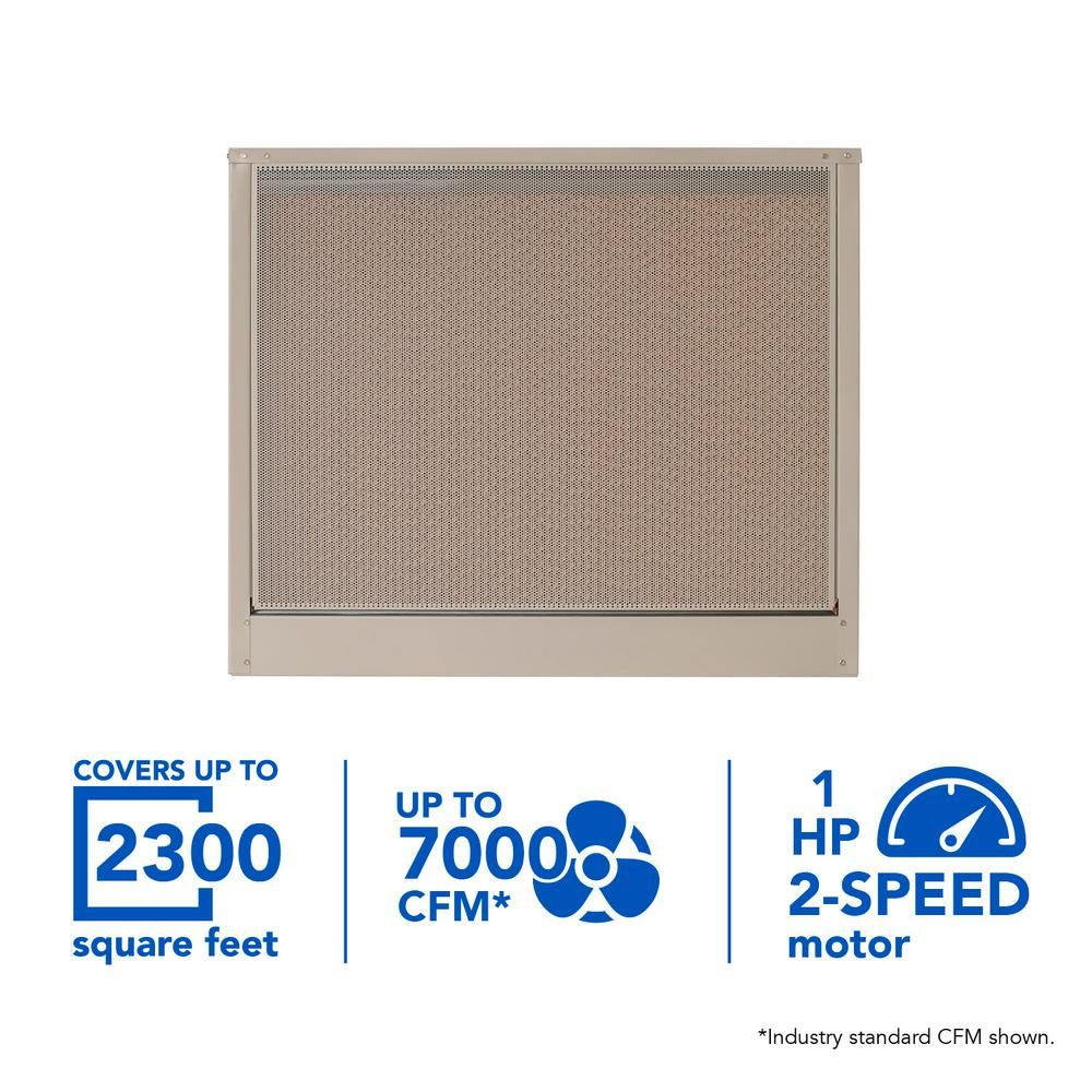 Mastercool 7000 Cfm 115 Volt 2 Speed Down Draft Roof 12 In Media Evaporative Cooler For 2300 Sq Ft With Motor Ad1c7112 Evaporative Cooler Home Depot Save Energy