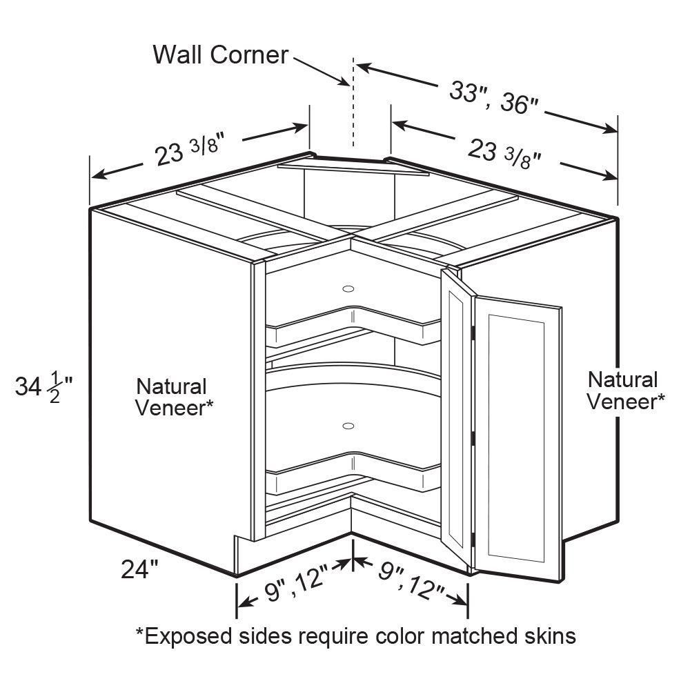Corner base cabinet lazy susan - EZR36SSR-NPW - The Home ...