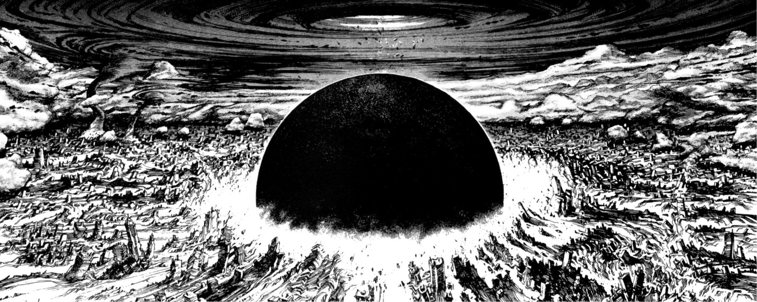 Manga Monochrome Akira Wallpaper Wave Illustration Akira Neo Tokyo