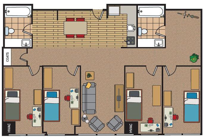30 Suite Style Graduate Housing Ideas House Student House Floor Plans