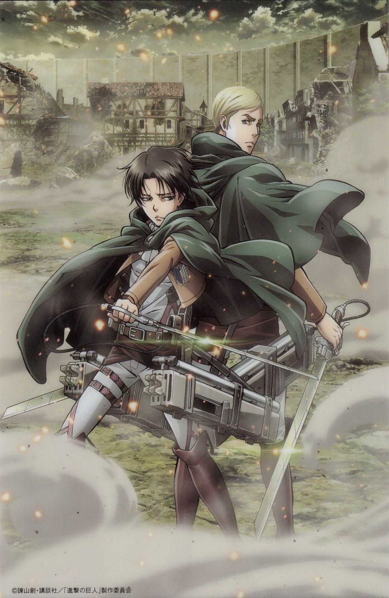 Shingeki No Kyojin Levi Ackerman Erwin Smith Attack On Titan Levi Attack On Titan Anime Attack On Titan