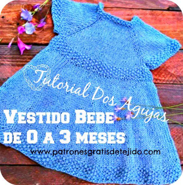 Patrones Y Tutoriales De Tejido Crochet Y Dos Agujas Gratis Para Descargar Vestidos Para Bebés Vestidos Para Niñas Vestidos Tejidos Para Bebe