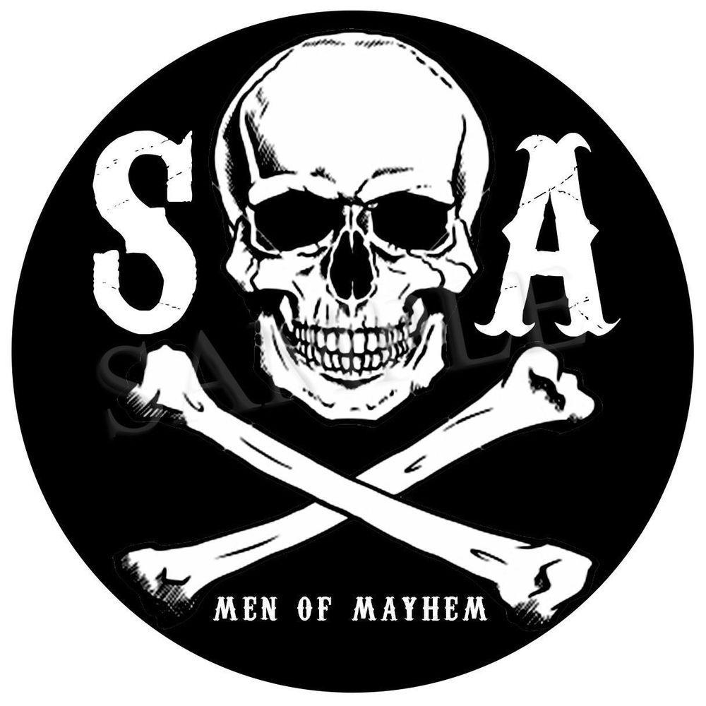 Sons Of Anarchy Men Of Mayhem Skull Vinyl Sticker Car Decal U K Post Only Vinyl Sticker Sons Of Anarchy Anarchy