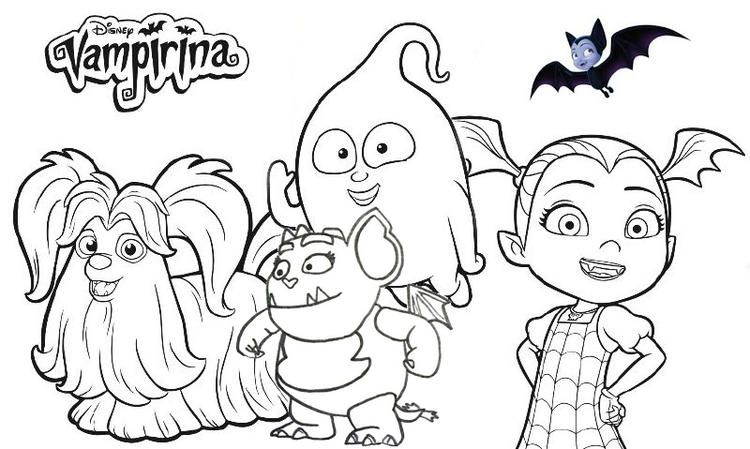 Read Moredisney Vampirina Coloring Page Collection Fathers Day
