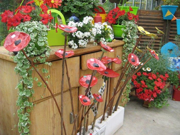 Mohnblumen Keramik Verschiedene Grossen Mohnblume Keramik Blumen