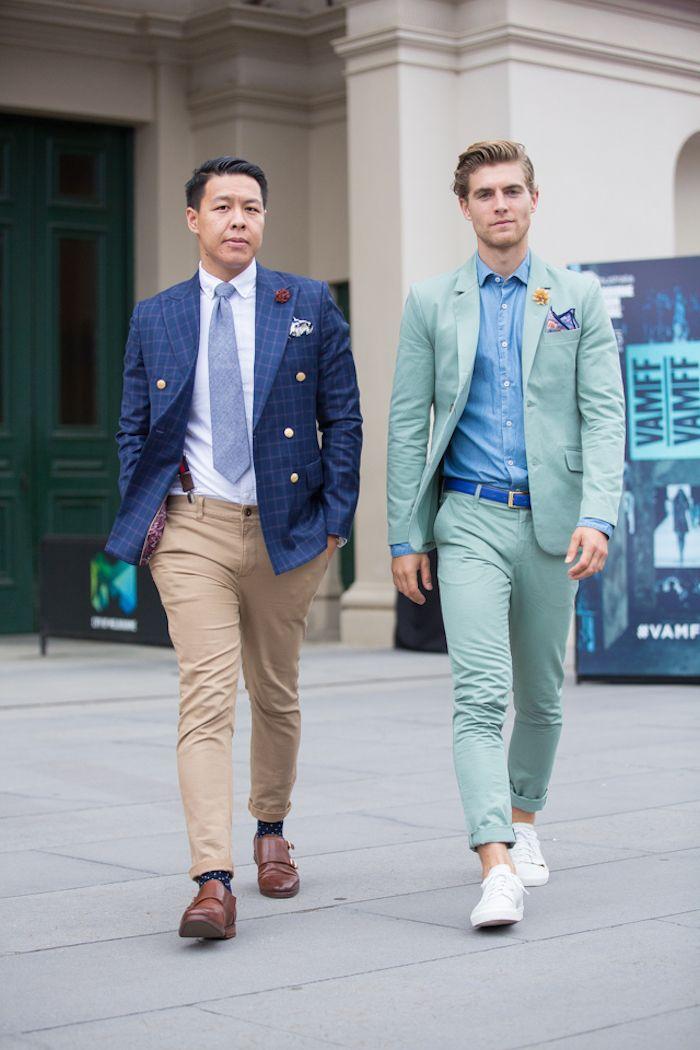 7e429e639171 Conseils   Comment choisir et porter un chino homme     chino beige ...