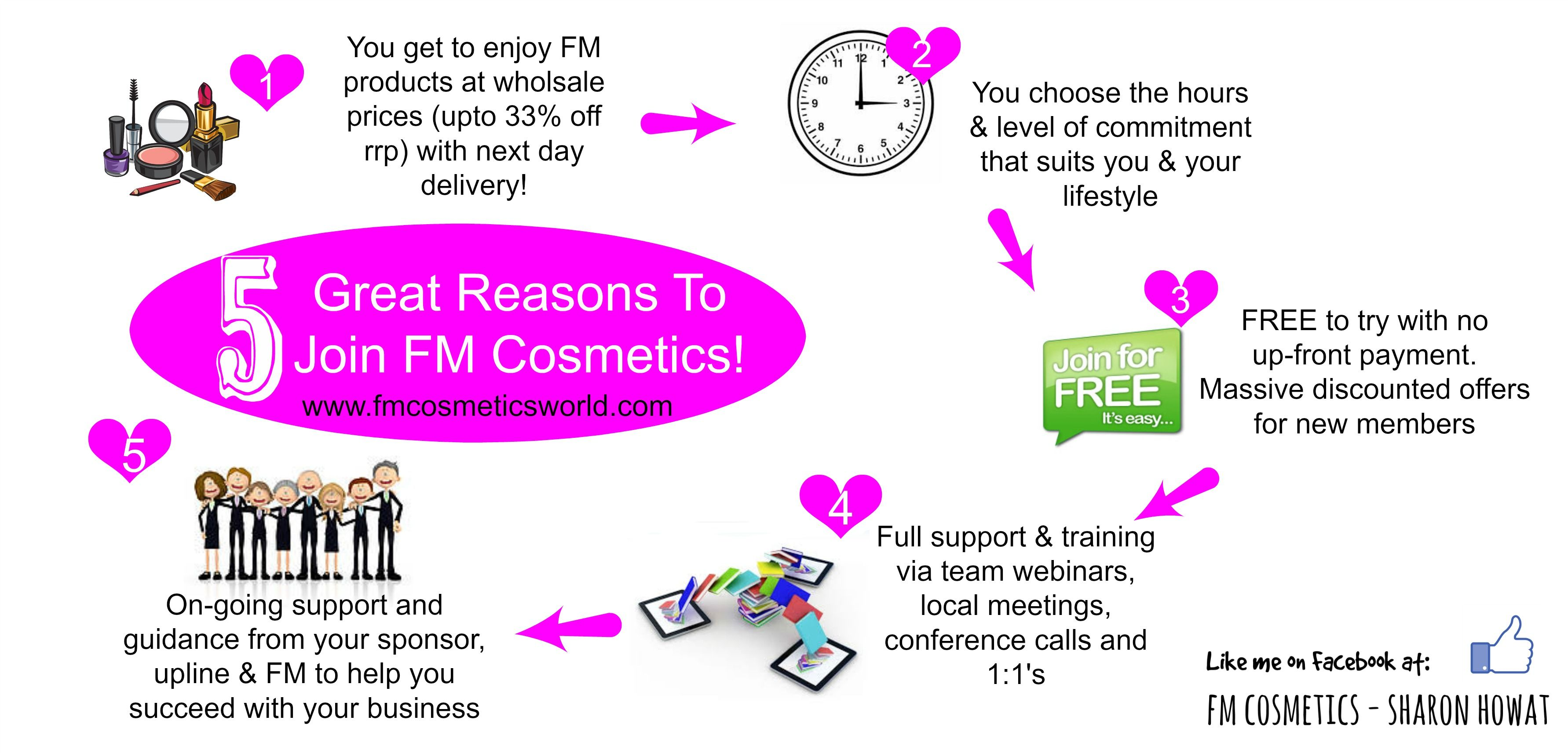 5 Reasons to join FM Cosmetics & my team Fm cosmetics